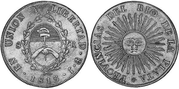 8 Real United Provinces of the Río de la Plata (1810 -1831) Silver