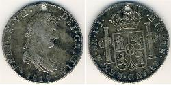 8 Rial Kingdom of Spain (1814 - 1873) Silver