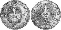 8 Sol United Provinces of the Río de la Plata (1810 -1831) Silver