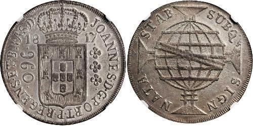 960 Reis 巴西 銀 若昂六世 (1767 - 1826)