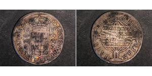 960 Reis Brasile Argento Giovanni VI del Portogallo (1767-1826)