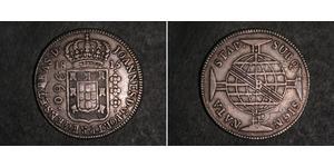 960 Reis Brasil Plata Juan VI de Portugal (1767-1826)
