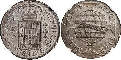 960 Reis Brasilien Silber Johann VI. von Portugal  (1767-1826)