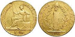 96 Lira Italian city-states Gold