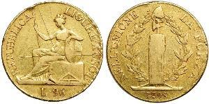 96 Lira Italian city-states Gold