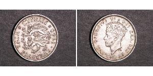 9 Piastre British Cyprus (1878 - 1960) Argento Giorgio VI (1895-1952)