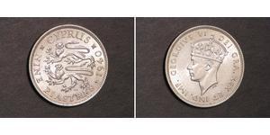 9 Piastre British Cyprus (1914–1960) Silver George VI (1895-1952)