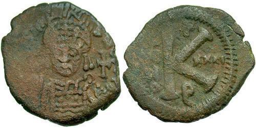 Half Follis Imperio bizantino (330-1453) Bronce Justiniano I (482-565)