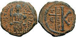 Half Follis Byzantinisches Reich (330-1453) Bronze Justinian I (482-565)