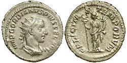 Антониниан Римская империя (27BC-395) Серебро Гордиан III(225-244)