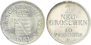 Грош / 10 Пфеніг Королівство Саксонія (1806 - 1918)  Фрідріх Август II (король Саксонії)