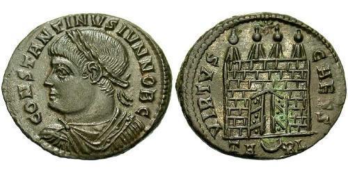 AE3 / 1 Фоллис Римская империя (27BC-395) Бронза Констанций II (317 - 361)