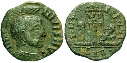 AE3 / 1 Фоллис Римская империя (27BC-395) Бронза Лициний I (265-324)