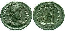 AE3 / 1 Фолліс Римська імперія (27BC-395) Бронза Валентиніан I (321-375)