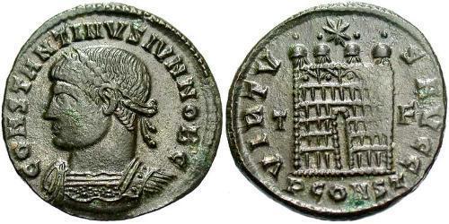AE3 / 1 Фолліс Римська імперія (27BC-395) Бронза Констанцій II (317 - 361)