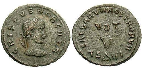 AE3 / 1 Фолліс Римська імперія (27BC-395) Бронза Крисп (305 - 326)