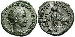 AE_ Римська імперія (27BC-395) Бронза Гордіан III(225-244)