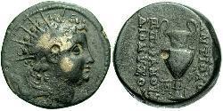 AE_ Seleucid Empire (312BC-63 BC) Bronze Antiochus VI Dionysus (148BC-138BC)