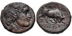 AE_ Seleukidenreich (312BC-63 BC) Bronze Seleukos I.(358BC-281BC)