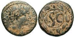 AE_ Roman Empire (27BC-395) Orichalcum Tiberius Claudius Nero (42 BC-37)
