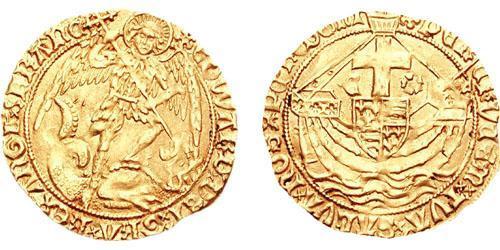 Angel Reino de Inglaterra (927-1649,1660-1707) Oro Eduardo IV (1442-1483)