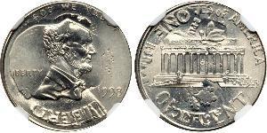 Cent Estados Unidos de América (1776 - ) Tin/Cobre/Zinc