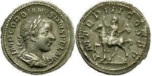 Denario Impero romano (27BC-395) Argento Gordiano III(225-244)