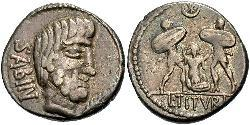 Denario República romana (509BC-27BC) Plata