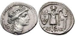 Denario República romana (509BC-27BC) Plata Julio César (100BC- 44 BC)