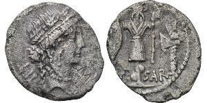 Denarius Römische Republik (509BC-27BC) Silber Iulius Caesar (100BC- 44 BC)