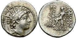 Drachm Seleucid Empire (312BC-63 BC) Silver Antiochus VI Dionysus (148BC-138BC)