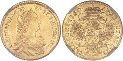 Ducat Principality of Transylvania (1571-1711) / Sacro Imperio Romano (962-1806) Oro Maria Theresa of Austria (1717 - 1780)