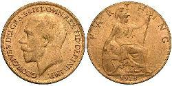 Farthing United Kingdom of Great Britain and Ireland (1801-1922) Bronze George V of the United Kingdom (1865-1936)