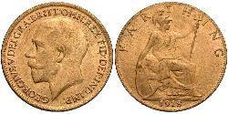 Farthing Vereinigtes Königreich von Großbritannien und Irland (1801-1922) Bronze George V (1865-1936)