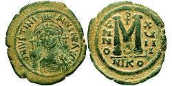 Follis Byzantinisches Reich (330-1453) Bronze Justinian I (482-565)