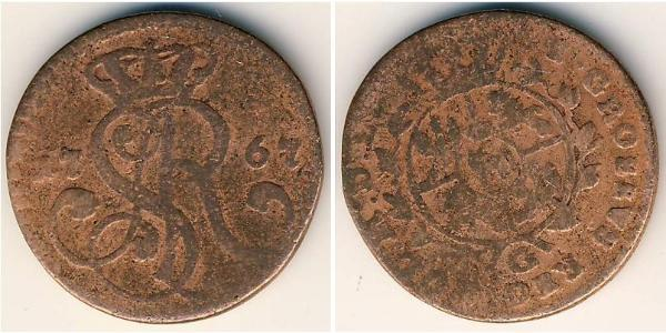 Grosh Polish-Lithuanian Commonwealth (1569-1795) Copper Stanisław August Poniatowski (1732 - 1798)