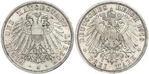 Grosh / 10 Pfennig 萨克森王国 (1806 - 1918)  弗里德里希·奥古斯特二世