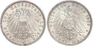 Grosh / 10 Pfennig Royaume de Saxe (1806 - 1918)  Frédéric-Auguste II de Saxe