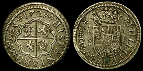 Real Spanish Empire (1700 - 1808) Silver Philip V of Spain(1683-1746)