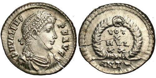 Siliqua Byzantine Empire (330-1453) Silver Valens (328-378)