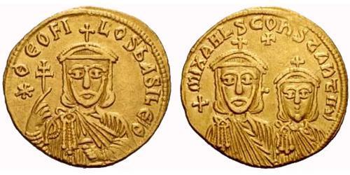 Solidus Byzantine Empire (330-1453) Gold Theophilus (813-842)