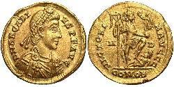 Solidus Impero bizantino (330-1453) Oro Arcadio  (377-408)