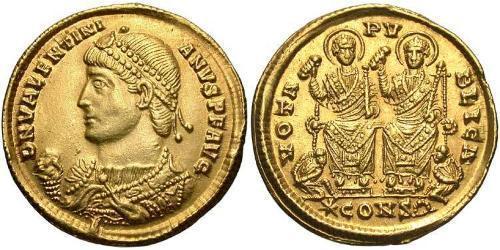 Solidus Impero romano (27BC-395) Oro Valentiniano I (321-375)