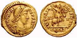 Tremis Imperio romano de Occidente (285-476) Oro Honorio (384-423)