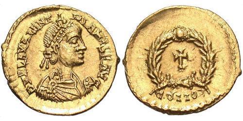 Tremis Imperio romano de Occidente (285-476) Oro Valentiniano III (419-455)