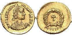 Tremissis  Western Roman Empire (285-476) 金 瓦伦丁尼安三世