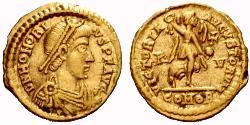 Tremissis  Western Roman Empire (285-476) Gold Honorius  (384-423)