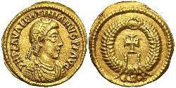 Tremissis  Western Roman Empire (285-476) Gold Valentinian III (419-455)