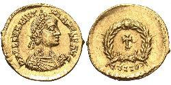 Tremissis  Western Roman Empire (285-476) Gold Valentinian III (419-455)