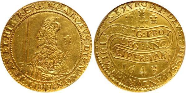 Unite Reino de Inglaterra (927-1649,1660-1707) Oro Carlos I (1600-1649)